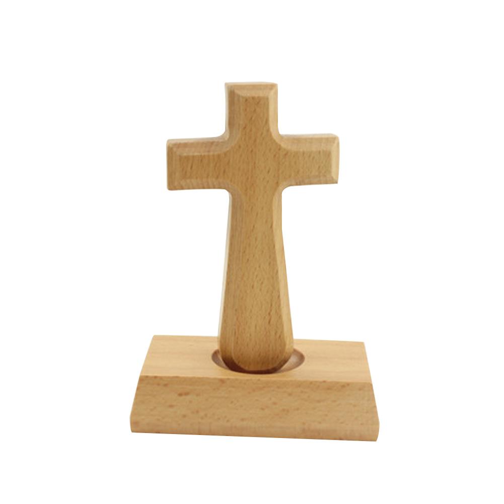 [Pantorastar] Handheld Wood Cross Prayer Comfort Holding Wooden Cross Hand Held Christian Gift For Clutchin
