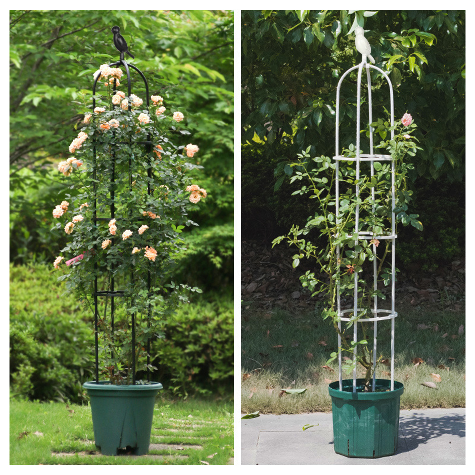 [Livejoy] 150CM Splicing Plant Climbing Frame Outdoor Flower Stand European Flower Stand Climbing Plant Flower Stand Garden Trellis Obelisk