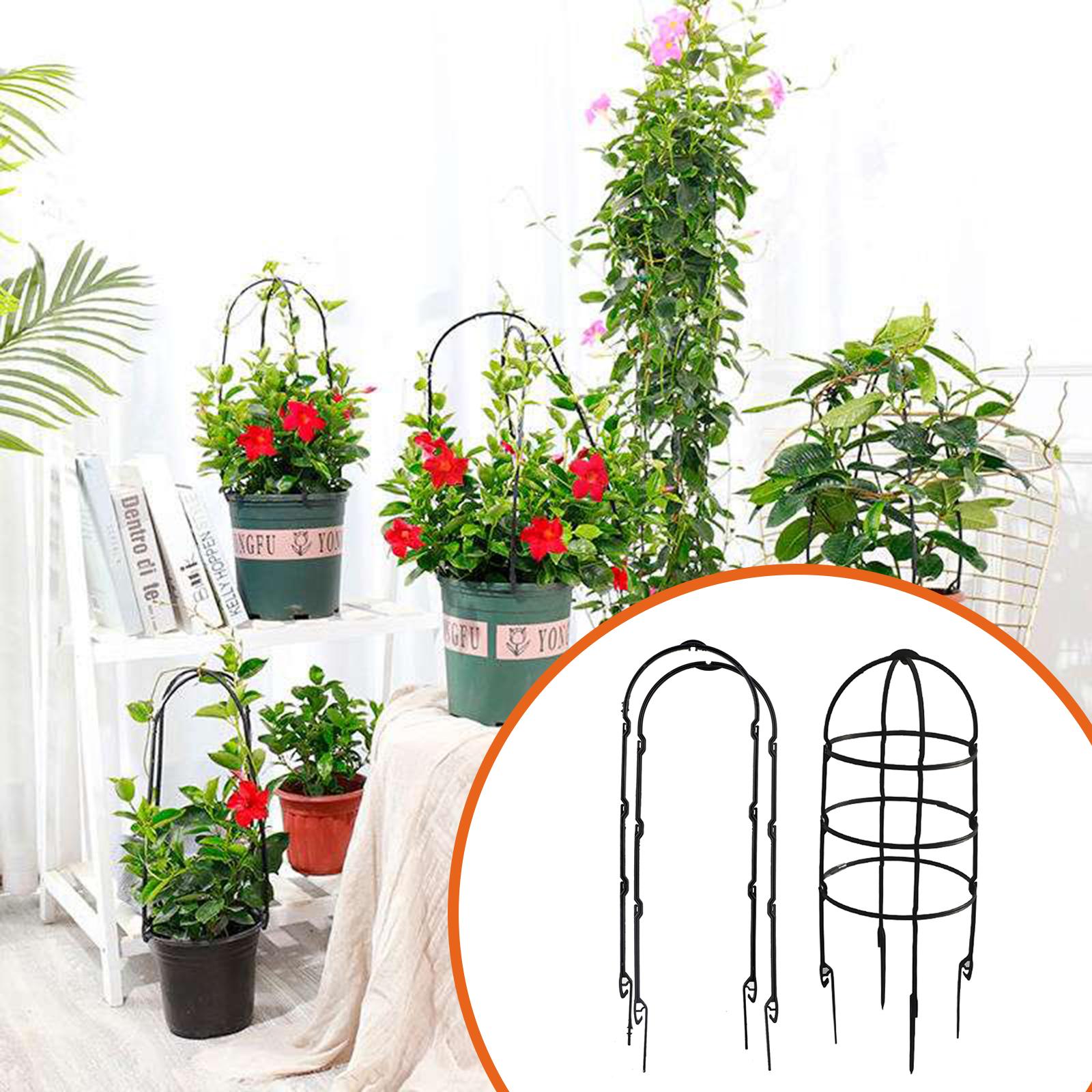 【On Sale】8pcs Durable Climbing Plant Support Cage Garden Trellis Obelisk Garden Trellis Flower Tomato Climbing Plants Flower Support Frame Gardening Tools Shelf U-Hoops Stakes Plant Cage