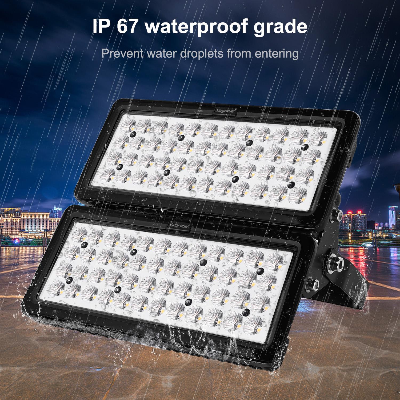 4x 100W LED Fluter Flutlicht Außen Strahler Gartenlampe Spotlight Kaltweiß IP67